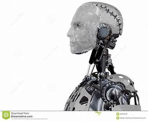 Male Cyborg Head In Profile. Stock Photos - Image: 26556543