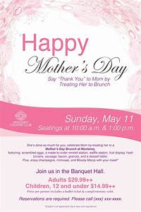 Mother's Day Brunch poster flyer template   Mothers Day ...