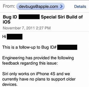 Apple confirm to developer that siri is not coming to for Apple siri not coming to older devices