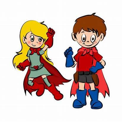Superhelden Tegninger Pixabay Heroes Zeichnung Semana Segunda