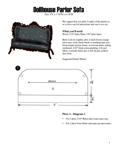 dollhouse miniature template free dollhouse furniture patterns scope of work template