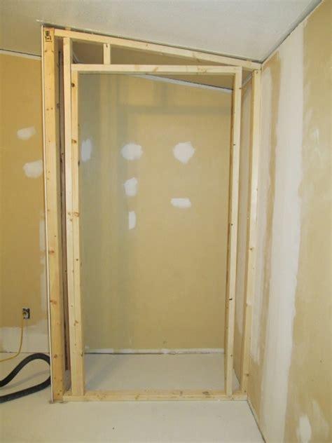 framing closet drywall plaster diy