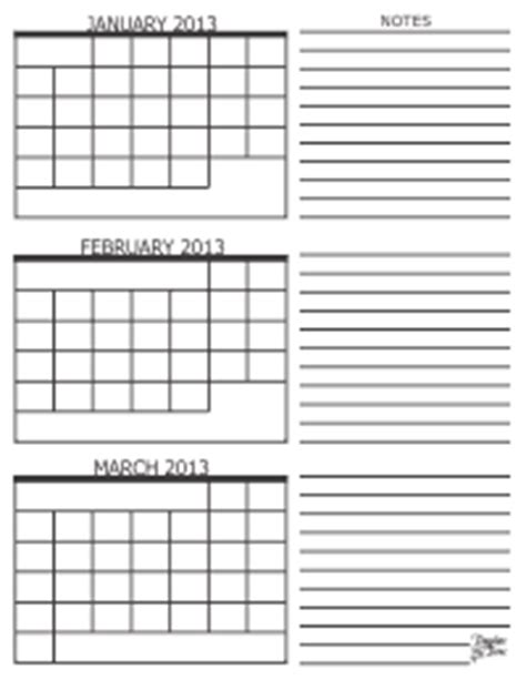 Three Month Calendar Template Trove by 3 Month Calendar 2013