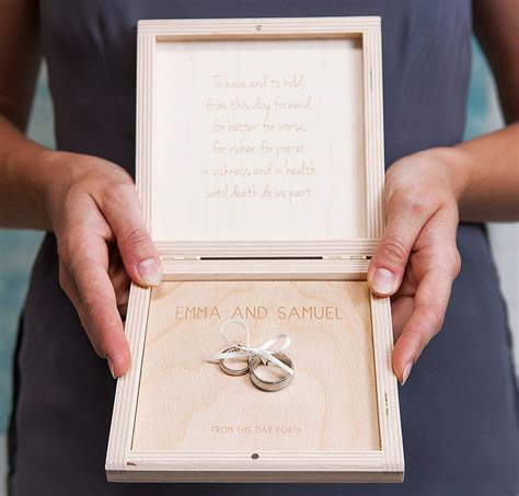 personalised infinity knot wedding ring box by clouds and currents notonthehighstreet