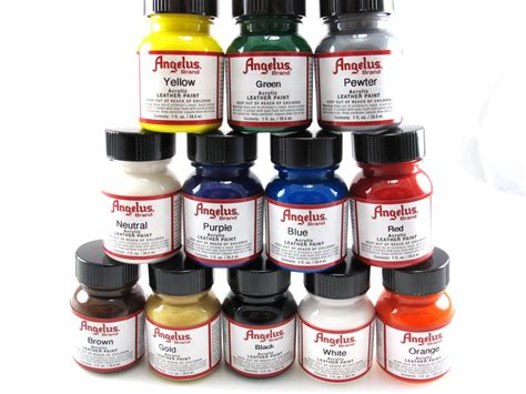 Angelus Acrylic Paint Starter Set Leather Paint 12 Pack 4
