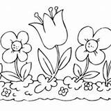Coloring Pages Flower Garden Printable Surfnetkids 1000 Surfing Sheets Flowerbed sketch template