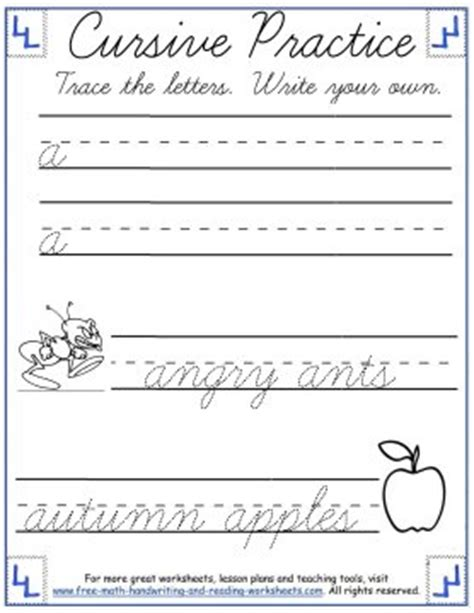 writing   cursive template