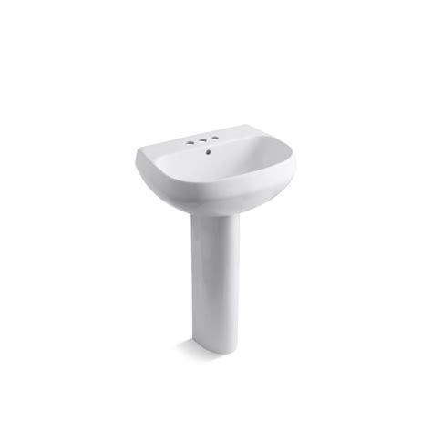 kohler pedestal sink kohler wellworth vitreous china pedestal combo bathroom