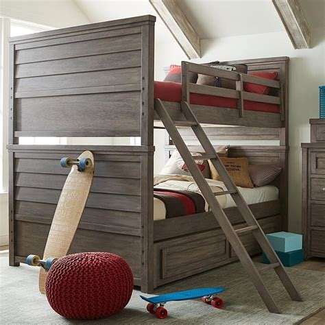 Bunk Beds With Trundle And Storage by Rustic Casual Bunk Bed With Trundle Storage