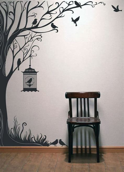 Dibujo Diy wall painting Tree wall art
