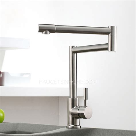 high end kitchen faucet high end stretch stainless steel brushed nickel kitchen