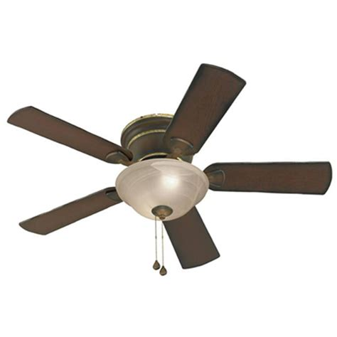 flush ceiling fan with light shop harbor breeze keyport 44 in walnut indoor flush mount
