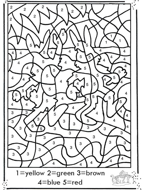 number drawing coloring  number