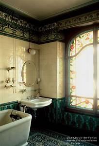 salle de bains 1905 french art nouveau bathroom i think With art nouveau bathroom tiles