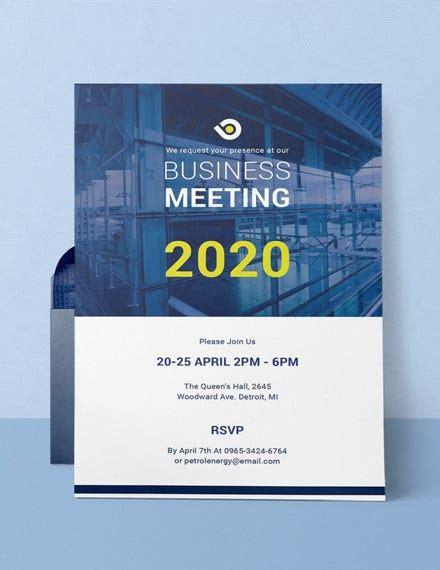 68+ Meeting Invitation Templates PSD Word AI Free