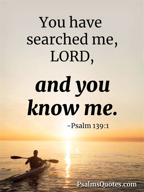 psalm    searched  lord