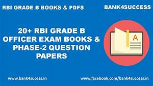 20  Rbi Grade B Officer Exam Books And Phase 2 Question