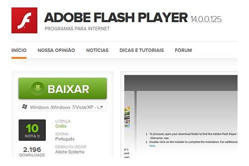 como baixar o flash player no pc
