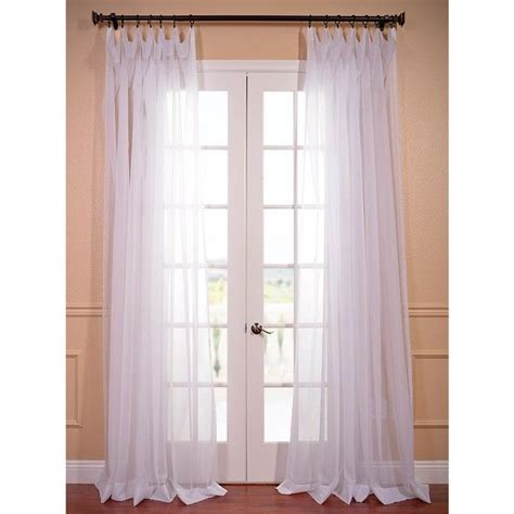 exclusive fabrics wide white voile sheer curtain