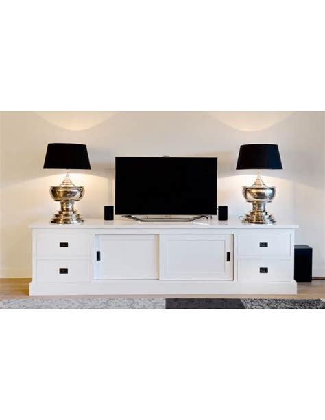 tv lowboard 200 cm tv schrank wei 223 landhaus lowboard wei 223 mit schiebet 252 ren
