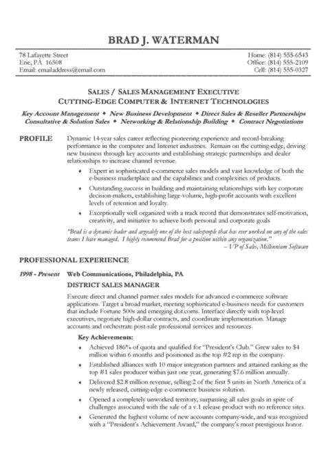 chronological resume exle sle