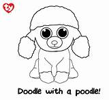 Beanie Coloring Pages Boos Poodle Boo Ty Rainbow Printable Toy Penguin Sheets Inc Colouring Dog Poodles Digital Ly Bit Give sketch template