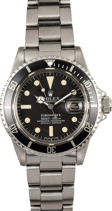 Rolex Reference 1680 Vintage Submariner at Bob's Watches