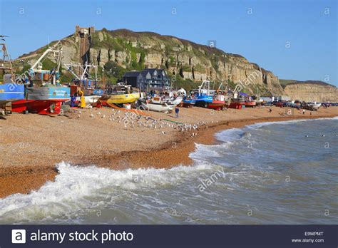 Old Boat On Beach Images by Fishing Boats On Hastings Old Town Stade Beach East Sussex