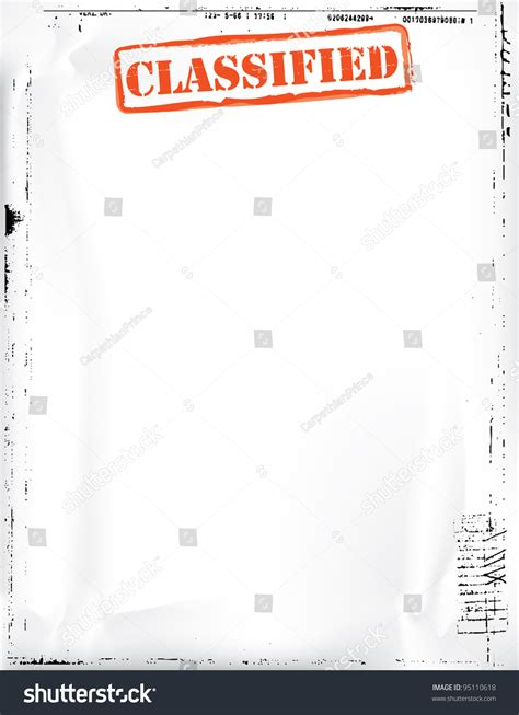 classified document template stock illustration