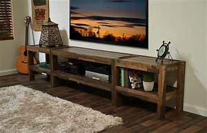 Rustic Pallet TV Stand and Media Console 101 Pallets