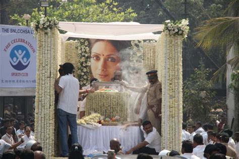 A Bright Home To Give A Family A Taste Of The by Sridevi Funeral Daughters Janhvi And Khushi Light The