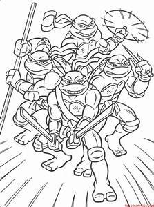 Coloriages Turtles Ninja - Tout En Famille