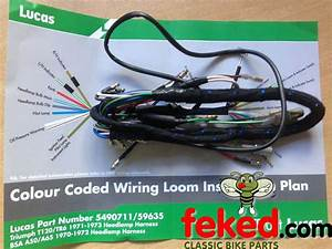 Electrical    Wiring Harness    Bsa Wiring Harness    Bsa A50  A65  1970