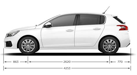 siege auto taille caractéristiques techniques de la peugeot 308 féline