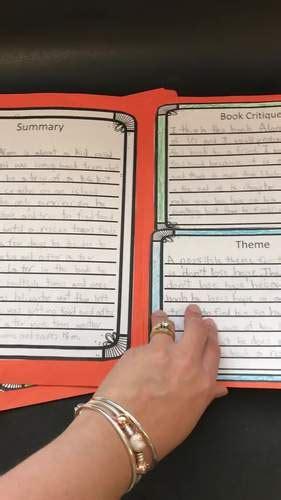 book report project    file folder book report