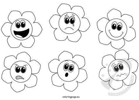 immagini bambini felici da colorare fiori delle emozioni da colorare