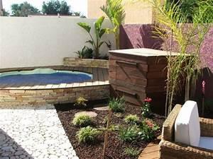 1 spa comme point de depart d391 projet paysager With awesome amenagement de terrasse exterieur 13 deco salon cheminee