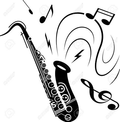 Saxophone Clipart Saxophone Clipart Black And White Clip Images 10735
