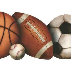 Football Baseball Basketball and Soccer Balls
