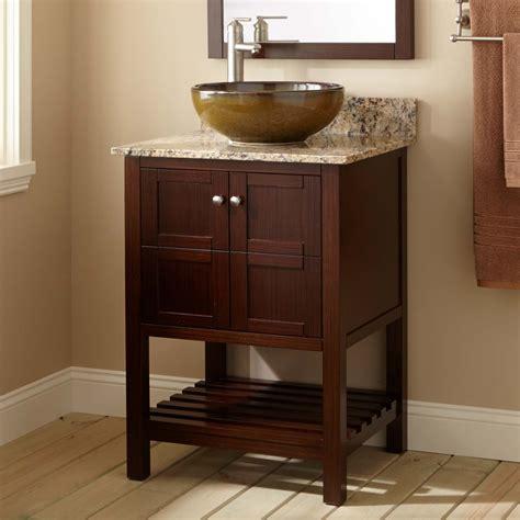 vessel sink vanity 24 quot everett vessel sink vanity wenge console vanities