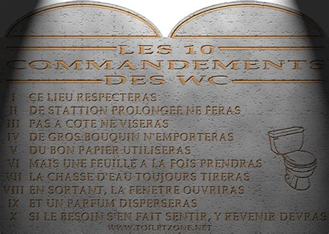 toiletzone affiche 10 commandements pour vos toilettes