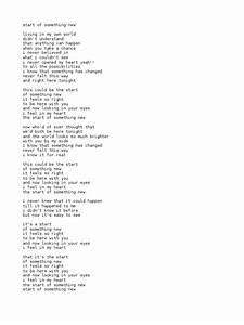 High School Musical Lyrics Docsharetips