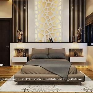 Modern, Master, Bedroom, Interior, Design, And, Back, Paneling