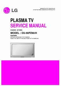 Lg Af03ba Chassis Du50pz60 Plasma Tv Sm Service Manual