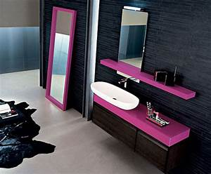 Modern luxury black purple bathroom design by arby for Interior design pink bathrooms