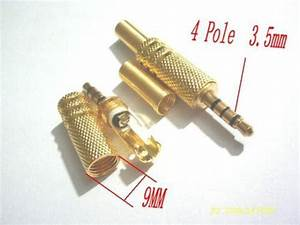 500pcs Gold Plate Solder Stereo 4 Pole Male 1 8 U0026quot  3 5mm
