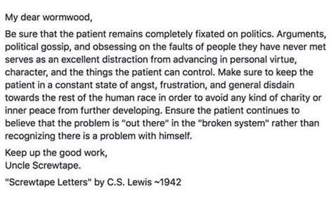 screwtape letters quotes what screwtape actually said about politics the 12032