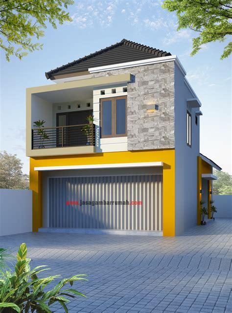 gambar desain rumah minimalis modern  lantai ukuran