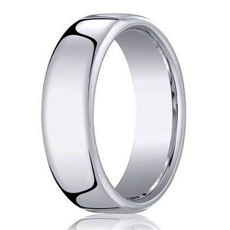 benchmark s cobalt chrome wedding ring with heavy fit