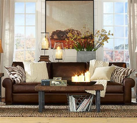 Pottery Barn Living Room Pillows by Turner Leather Sofa Pottery Barn Search For The